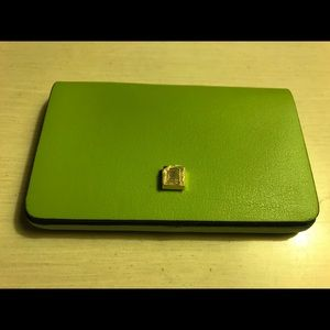 Lodis Green Leather Business Card Case NWT $35 Ret