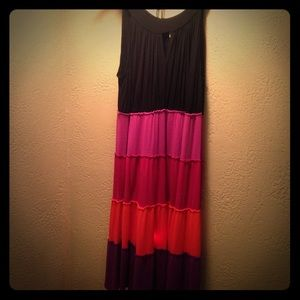 The most beautiful vibrant colored dress