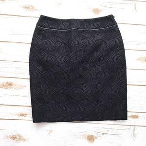 ANN TAYLOR Black purple Mini Pencil Skirt NWT