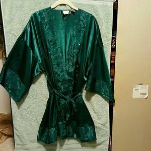 Emerald Green Kimono Robe