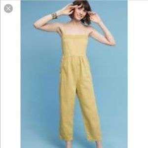 NWT Postmark Anthropologie Everyday Jumpsuit Gold