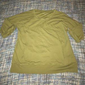 Green pullover soft surroundings xl sweatshirt