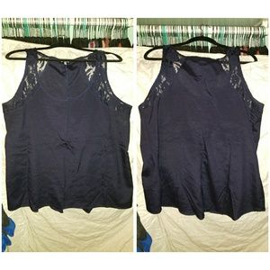 Charlotte russe xl navy blue tank
