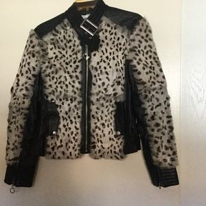 Baby Phat leather and fur jacket