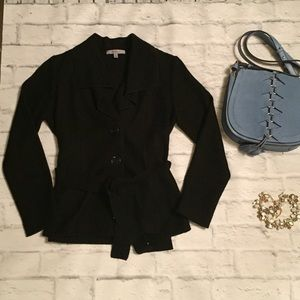 Black Classiques Entier Belted Short Jacket