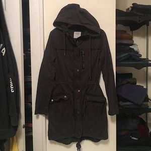 Abercrombie grey cargo jacket