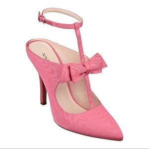 Nine West Janeil Pink Strappy Bow Pumps 8.5