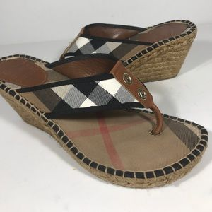 Burberry Wedge sandal size 9