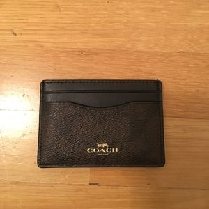 Coach card wallet/holder