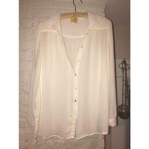 White H&M Button Down Blouse