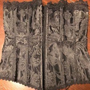 Fredericks of Hollywood black corset