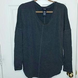 NWOT Dark grey thumbhole drop sleeve tunic XL