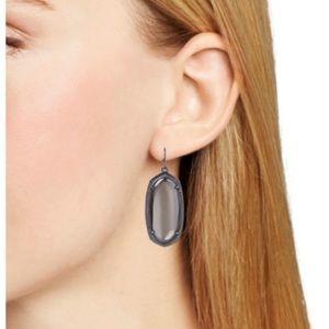 Kendra Scott Elle earrings in gun metal
