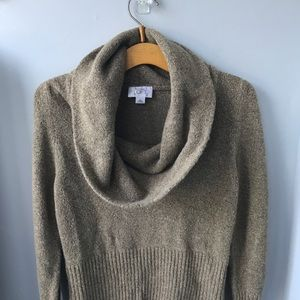 Ann Taylor Loft sparkle gold sweater with sparkles