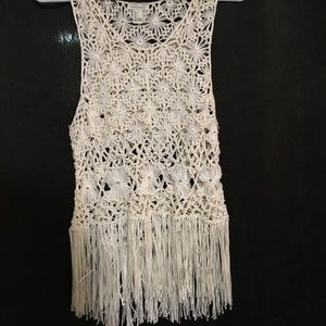 Cute lacy crochet tank from forever 21 size small