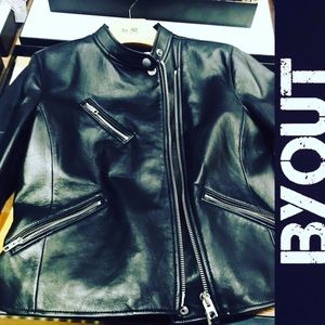 Black Leather Coach Jacket