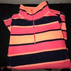 Striped old navy fleece pullover
