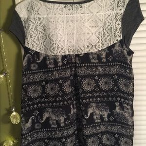 Gray Elephant short sleeve shirt