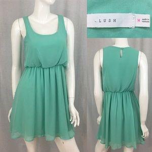 💫Sz Medium Lush Sleeveless Teal A-line Mini Dress