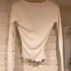 Hollister White Wrap-Style Top