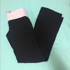 Pink yoga pants by Victoria's Secret size S