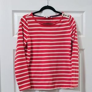 Boden striped scoop neck top US size 10