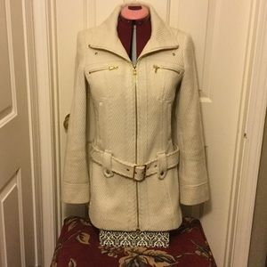Guess cream jacket small