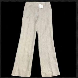 J Crew 100% Linen Pants Herringbone Texture
