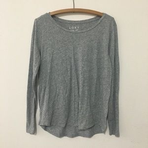 Ann Taylor Loft Gray Vintage Soft Long Sleeve