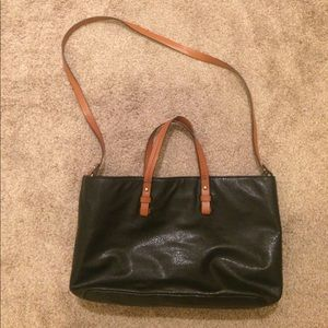 Zara faux leather tote bag