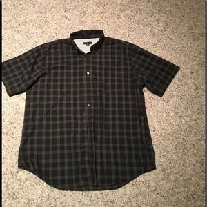 Men's black and grey button up