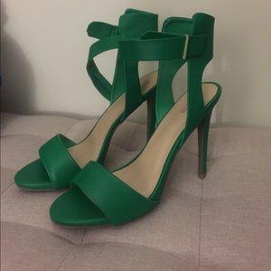 Green Sandal Heel