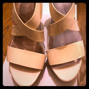 New Banana Republic Crisscross Wedge Sandals sz 8