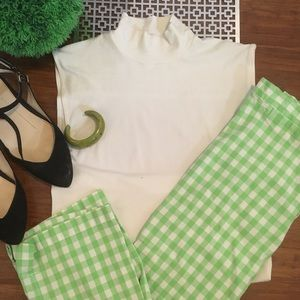 Pants - ✨Vintage gingham high waist pedal pushers ✨