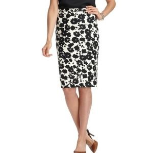 Ann Taylor Loft Floral Print Pencil Skirt Sz 2 NWT