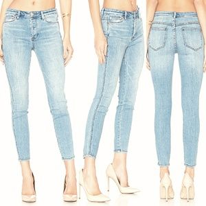 Free People Light Wash Skinny Jeans