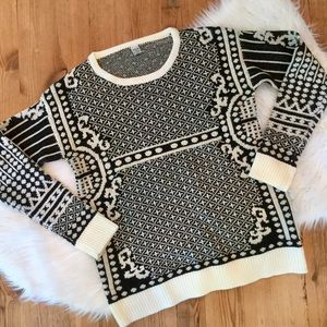 Tea & Cup Sweater w/ Sparkle, Small, Like New