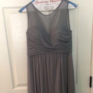 Bridesmaid dress, gray
