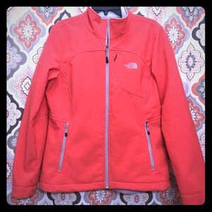 Women's Bright Coral Pink Shell Jacket North Face