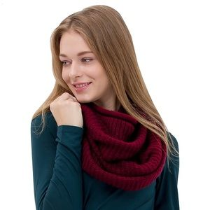 Accessories - Knit Infinity Scarf Fashion Circle Loop Scarf