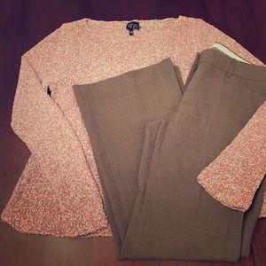Express Editor dress pants, tan/brown, 8S
