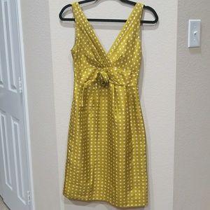 J.CREW Polka Dot ROSETTE 100% SILK Dress 0