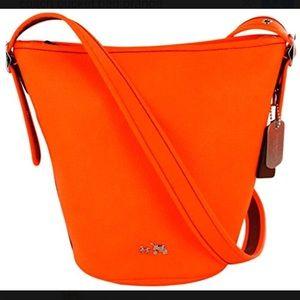 Coach Mini Duffle Pebbled Leather Bucket Bag ☘️