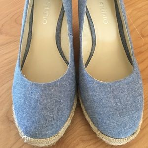 Jones Studio Brand New Denim Wedge Shoes