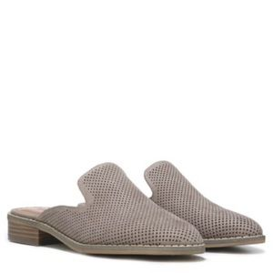 Perforated Slip on Flat Mules