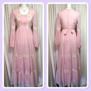 70s vintage BoHo long dress 😍Gorgeous rare fine!