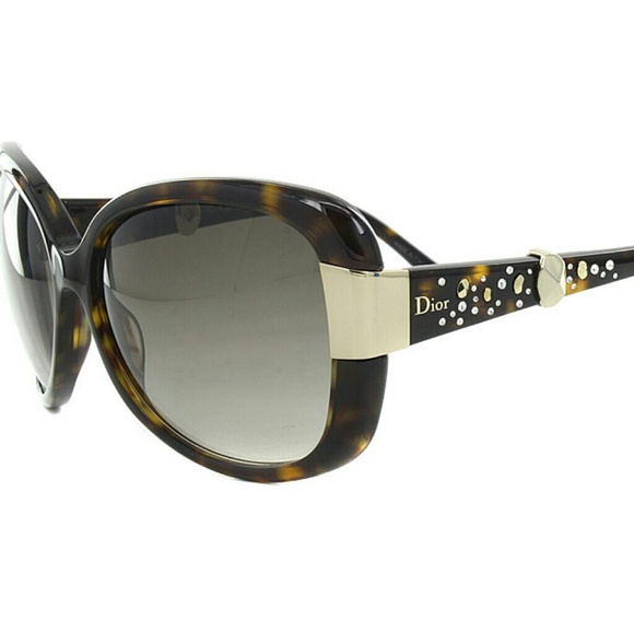 20460997bf6 Christian Dior Accessories - GUC Christian Dior 086HA Tortoise Brown  Sunglasses