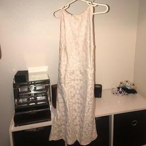 White crochet bodycon dress