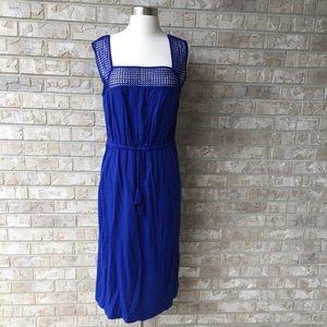 NWT Old Navy Midi Dress Navy Blue Size L🌸