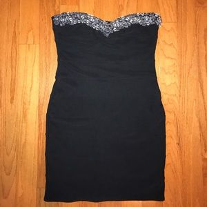 F21 beaded bandage dress